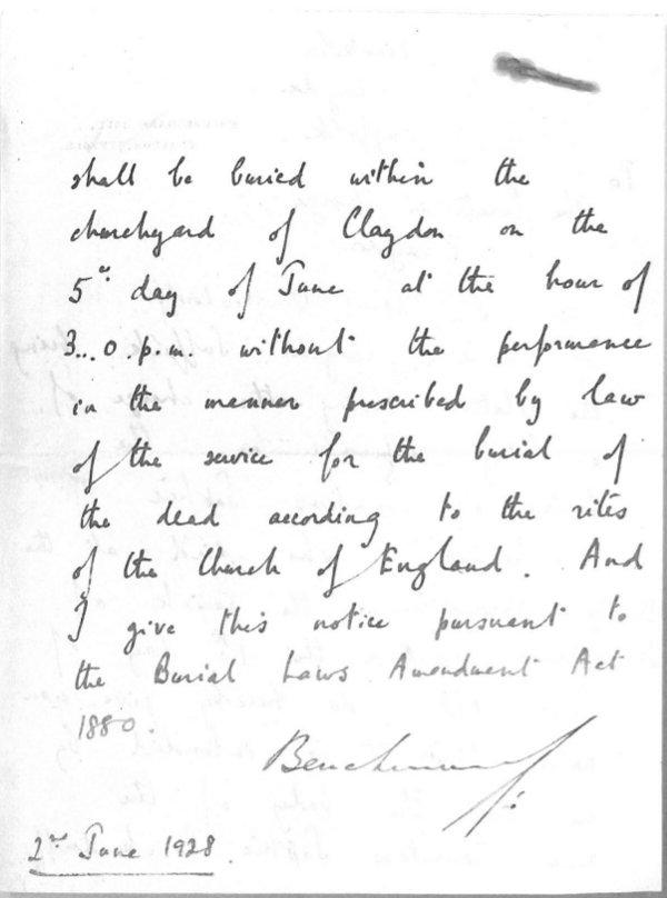 Benckendorff letter 2