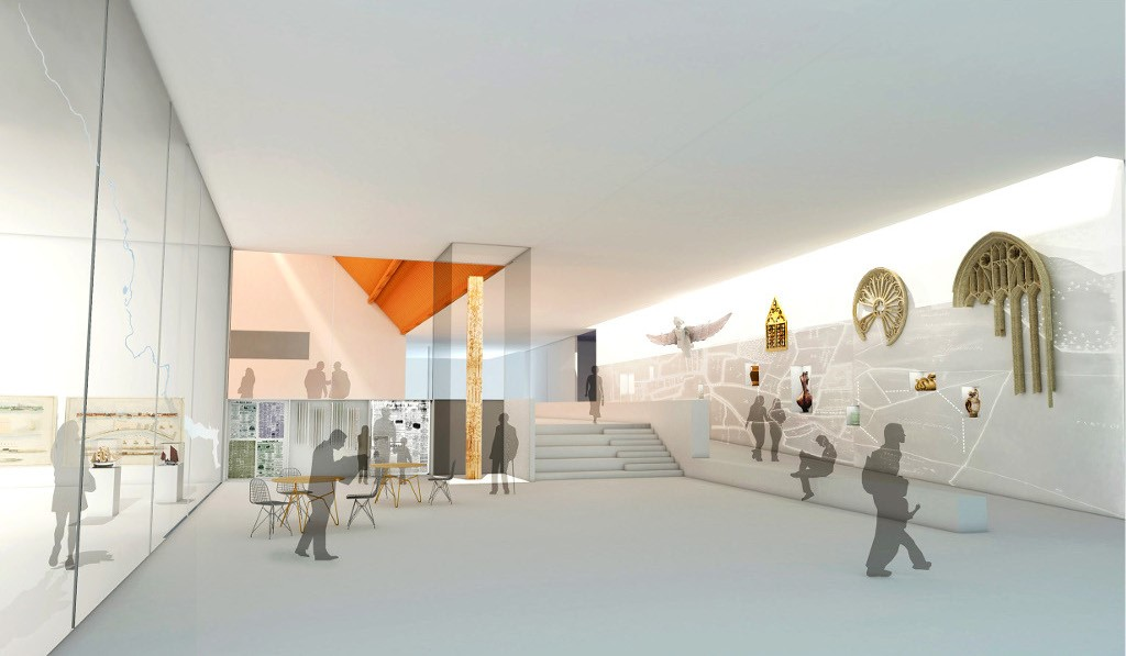 Artist's impression of the entrance area of The Hold