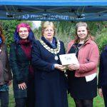 Capsule burial event at Stowmarket